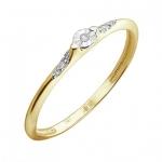 Кольцо из желтого золота с бриллиантами 01К6612256Ж