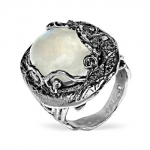 Серебряное кольцо Yaffo с лунным камнем SAR1270