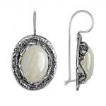 Серебряные серьги Yaffo с лунным камнем SAE1269