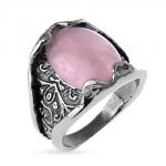 Серебряное кольцо Yaffo с розовым кварцем SAR1178-1