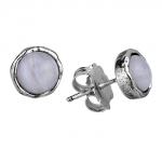 Серебряные серьги Yaffo с лунным камнем SAE1145