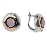 Серебряные серьги Yaffo с розовым кварцем SAE020RQ