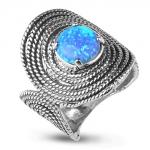 Серебряное кольцо Yaffo с опалами SAR938-1