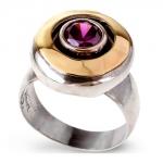 Серебряное кольцо Yaffo с фианитом SAR098-1