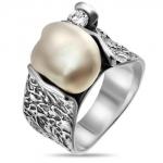 Серебряное кольцо Yaffo с жемчугом SAR895