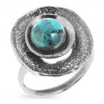 Серебряное кольцо Yaffo с бирюзой SAR416