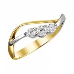 Кольцо из желтого золота с фианитами 01К1312305Р