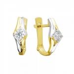 Серьги из желтого золота с фианитами 01С1312309Р