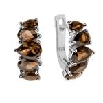 Серебряные серьги Sandara с раух-топазом ANE3264SQ