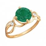 Кольцо золотое с агатом 01К4112178-1
