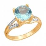 Золотое кольцо с топазами 01К3112175Р-1