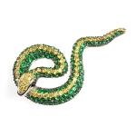 Подвеска Змея из серебра с фианитами M0000231582