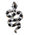 Брошь Змея из серебра с фианитами M0000231537