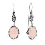 Серебряные серьги Yaffo с розовым кварцем SAE1343