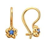 Серьги из золота с фианитами 01С2112539-3