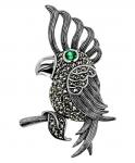 Серебряная брошь Попугай ALEXANDRE VASSILIEV TJBR474