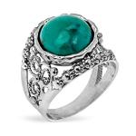 Серебряное кольцо Yaffo с бирюзой SAR1377