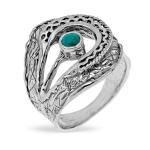 Серебряное кольцо Yaffo с бирюзой SAR1369