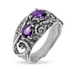 Серебряное кольцо Yaffo с аметистом SAR1358