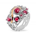 Серебряное кольцо Yaffo с гранатом SAR1420
