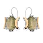 Серебряные серьги Yaffo с лабродоритом SAE1413