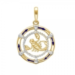 Подвеска Скорпион Знаки Зодиака желтое золото 01Д0310511ЭР