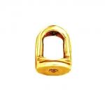 Закрутка для пусеты под резьбу из желтого золота