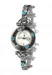 Серебряные часы Yaffo с топазом и золотом SAW625