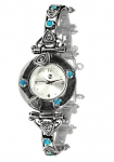 Серебряные часы Yaffo с голубым кварцем SAW623