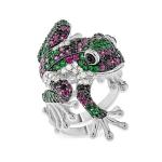 Серебряное кольцо Sandara Лягушка с фианитами YJR024