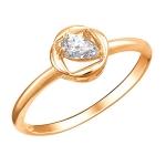 Кольцо золотое с фианиами 01К1112771