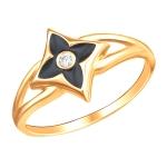 Кольцо золотое с фианиами 01К1112959Э