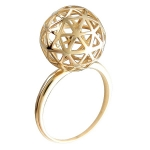 Золотое кольцо Bubblse Gold 01К0112777