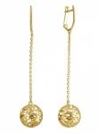 Серьги из желтого золота Bubblse Gold 01С0312994