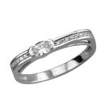 Кольцо из белого золота с фианитами 01К1212336