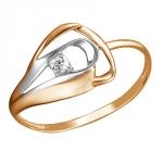 Кольцо золотое с фианитами 01К1112984Р