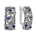 Серебряные серьги Yaffo с фианитом SAE1477