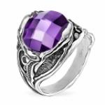 Серебряное кольцо Yaffo с фианитом SAR471