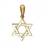 Подвеска золотая Звезда Давида 01П013604
