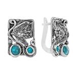 Серебряные серьги Yaffo с бирюзой SAE1462