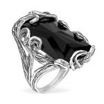 Серебряное кольцо Yaffo с ониксом SAR1435