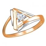 Кольцо золотое с фианиами 01К1112986Р