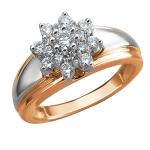 Золотое кольцо с фианитами 01К1611706
