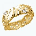 Кольцо из желтого золота Ариадна 01К1312943