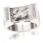 Кольцо из серебра из серебра МУСТАНГ К-35001