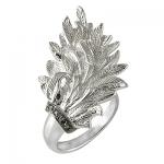 Кольцо из серебра Альдзена ПЕРО К - 15018