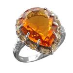 Серебряное кольцо с фианитами С22К251182