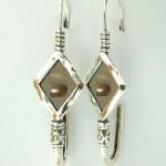 Серебряные серьги Deno с лабрадором 01E613LB