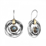 Серебряные серьги Deno с лабрадором и золотом MVE1447GLB