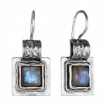 Серебряные серьги Deno с лабрадором 01E615LB